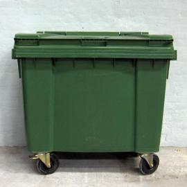 Affaldscontainer med hjul - 660 liter